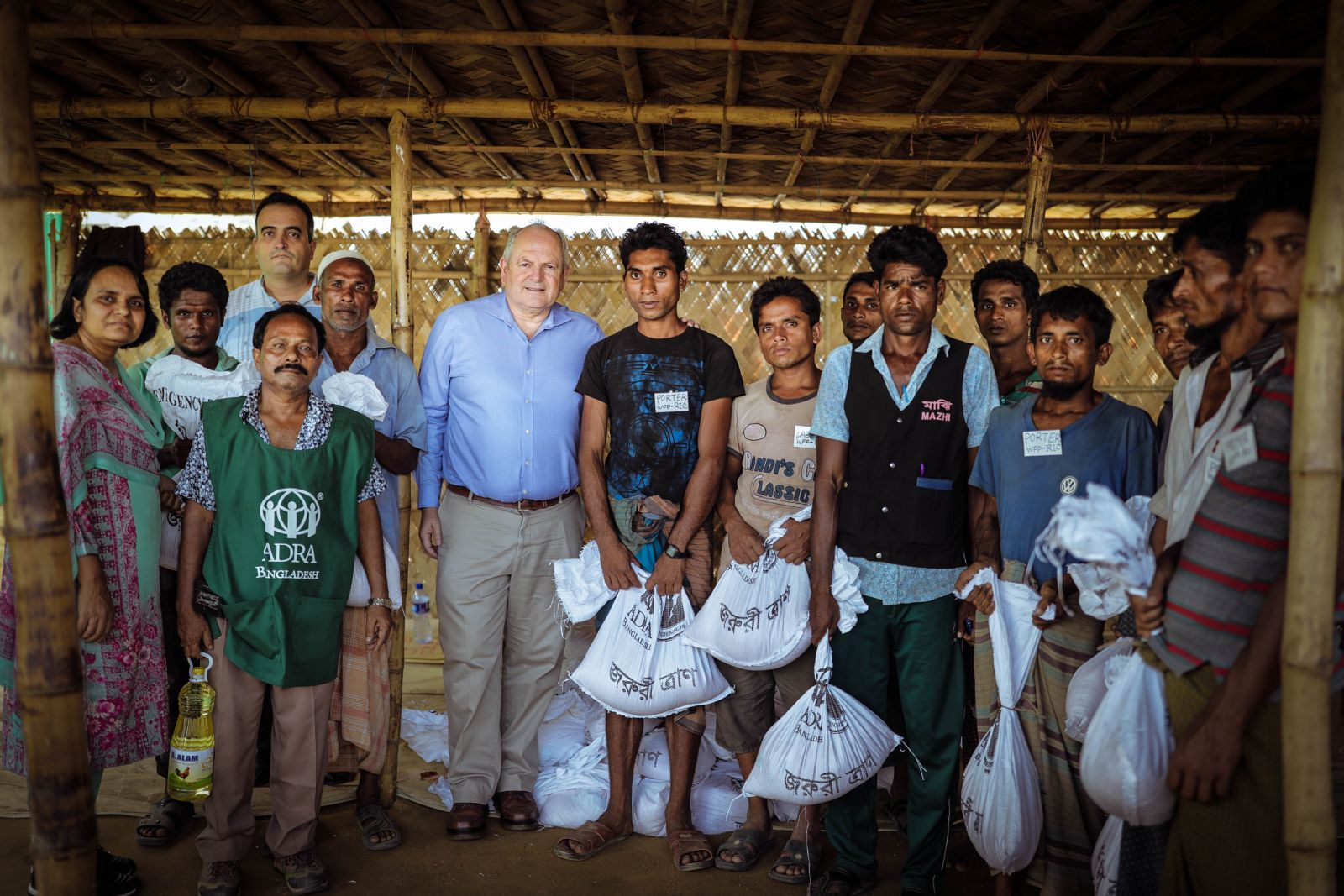 Jonathan Duffy visiting ADRA's Rohingya response