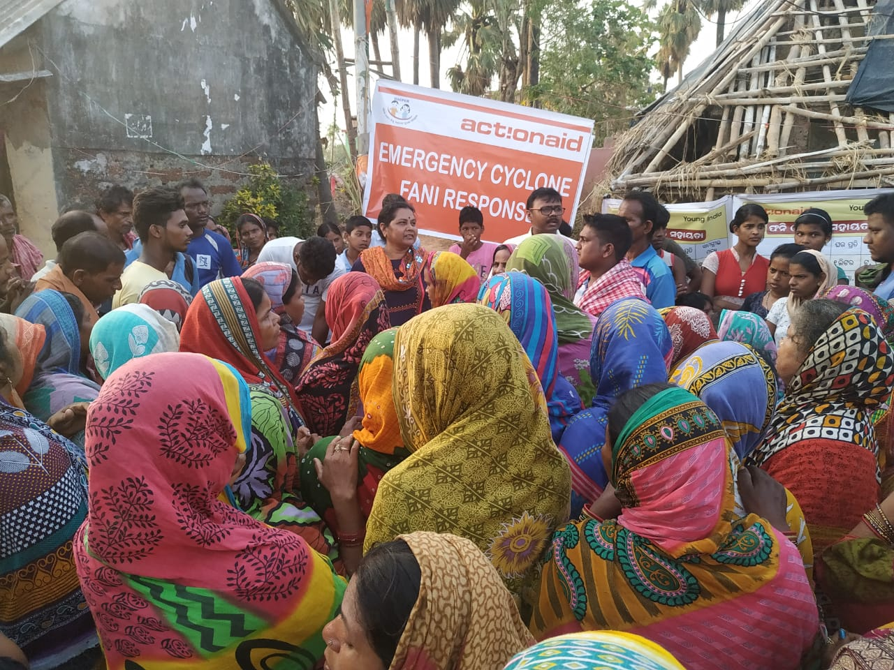 ActionAid India provide emergency relief after Cyclone Fani in May 2019.