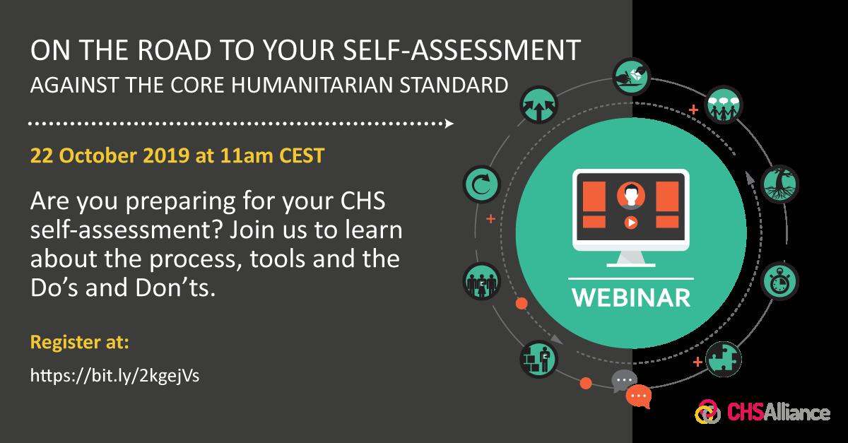 CHS Self-Assessment Webinar October 2019